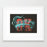 reassurance Framed Art Prints featuring Reassurance  by Tshirt-Factory