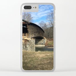 Virginia Covered Bridge Clear iPhone Case