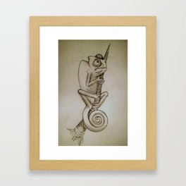 Dinner on the Mind (Sketch) Framed Art Print