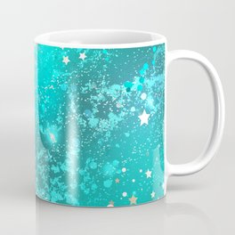 Turquoise Foil Background Coffee Mug