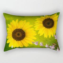 Sunflowers. Rectangular Pillow