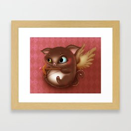 Cupid Kitty Framed Art Print