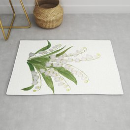 white lily of valley Rug