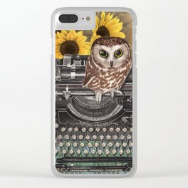 Office Owl Clear iPhone Case