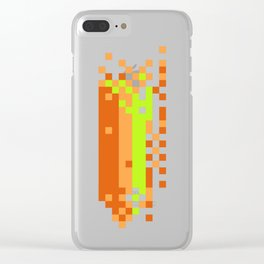 Link pixel scramble Clear iPhone Case