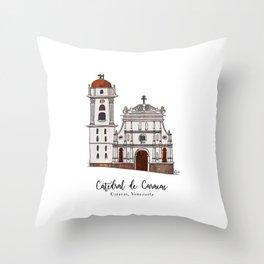 Catedral de Caracas Throw Pillow