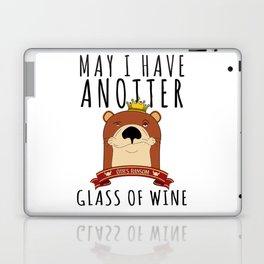 Otter Marten Weasel Wine Drinking Funny Animal Laptop & iPad Skin