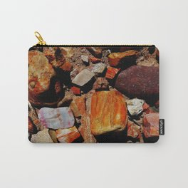 Petrified Wood of the Desert Carry-All Pouch