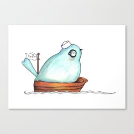 Little Sailor blue Canvas Print
