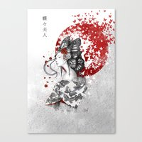 butterfly Canvas Prints featuring Madame Butterfly by Marine Loup