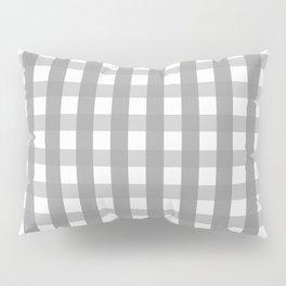 Gray Checkerboard Gingham Pillow Sham