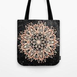 Metallic Mandala Tote Bag