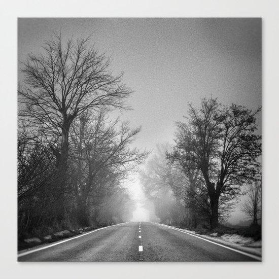 """""""Follow your dreams ...."""" Monochrome Canvas Print"""