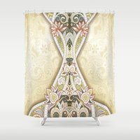 vintage floral Shower Curtains featuring Vintage Floral by Robin Curtiss