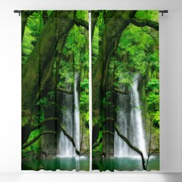 Waterfall in Azores islands Blackout Curtain