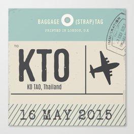 Travel Tag Canvas Print