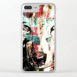 Silverwolf, wolf, painting, wolfpack. Clear iPhone Case