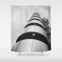 building Shower Curtains featuring Lloyds building by Solar Designs