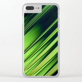 Diagonal Stripes of Green and Black Clear iPhone Case