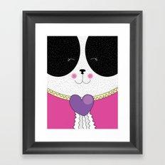 Lovely Panda Girlfriend! - cute, funny, sweet, panda bear! Framed Art Print