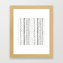 Moroccan Stripe in Cream and Black Framed Art Print