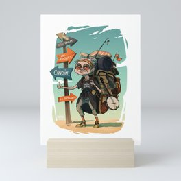 It is never too late to travel around the world Mini Art Print