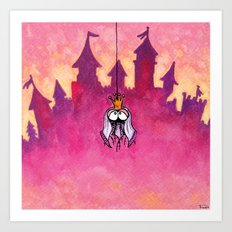 Little spiderprincess Art Print