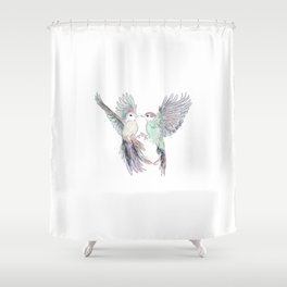 Wedding Birds #4 #Birds in Love Shower Curtain