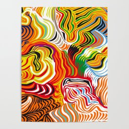 colored flow Poster
