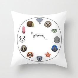 Slow Animals Throw Pillow