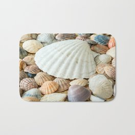 Sea Shells  -  Ocean, Sea, Nature Bath Mat