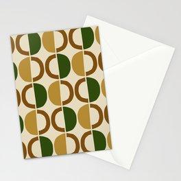 Mid Century Modern Half Circle Pattern 580 Stationery Cards