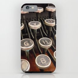 Up to the Typing Keys iPhone Case