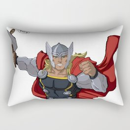 Thor and the Bird Rectangular Pillow