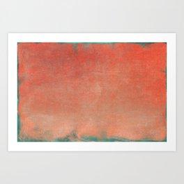 Minimal Abstract Orange Colorfield Painting 02 Art Print
