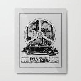 Panhard 1936 classic French art deco auto Metal Print