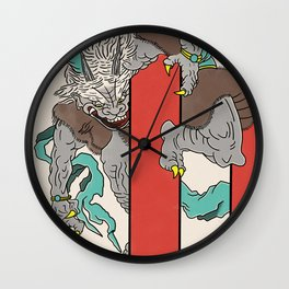 An Oni in Rashomon Wall Clock