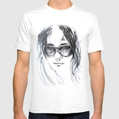 Sunglasses Girl Mens Fitted Tee White SMALL
