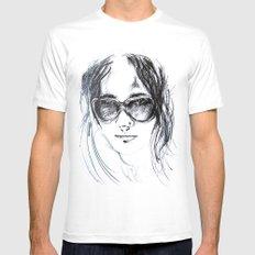 Sunglasses Girl Mens Fitted Tee MEDIUM White