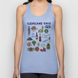 Cleveland Ohio Icons Unisex Tank Top