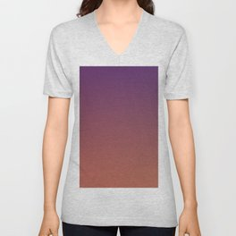 MIDNIGHT GLOW - Minimal Plain Soft Mood Color Blend Prints Unisex V-Neck