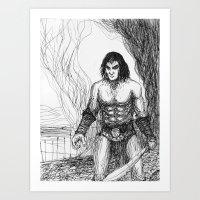 conan Art Prints featuring Conan fan art by Albert Wint