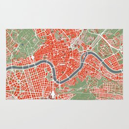 Rome city map classic Rug