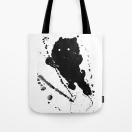 Jumping Leaping Black Puppy Dog Kitten Cat Tote Bag