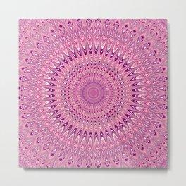 Pink star mandala Metal Print