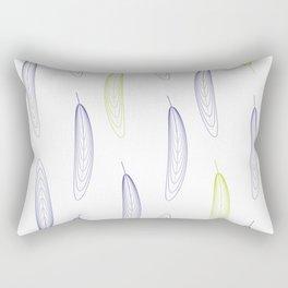 Large Feathers Purple & Green #993 Rectangular Pillow