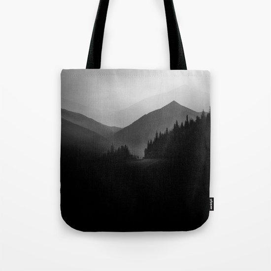 Dusky Mountains Tote Bag