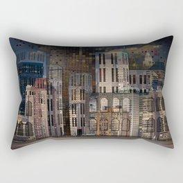 Digital Architecture Rectangular Pillow