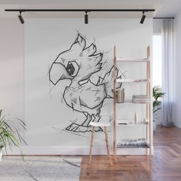 Chocobo Handmade Drawing, Made in pencil and ink, Tattoo Sketch, Final Fantasy Art Wall Mural