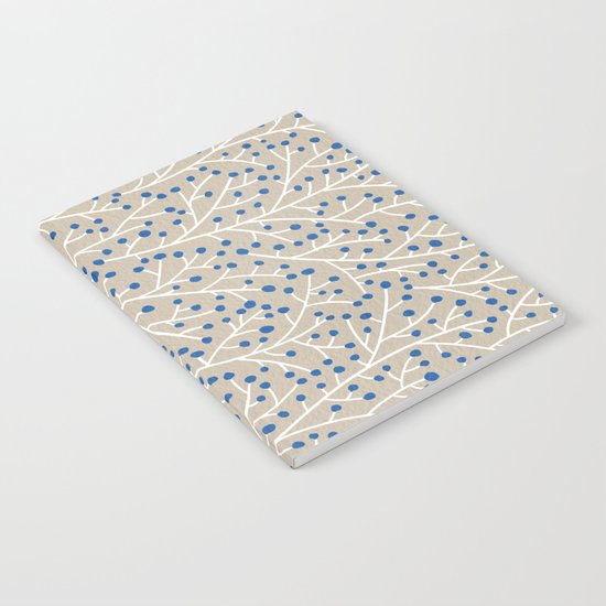 Blue & White Berry Branches Notebook